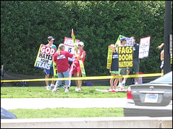Westboro Church Protesters At Arlington Cemetery