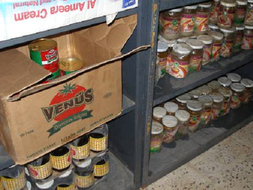 Stocked shelves at Iraqi orphanage