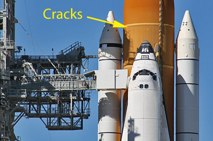Root cause of shuttle external tank cracks still not clear ...