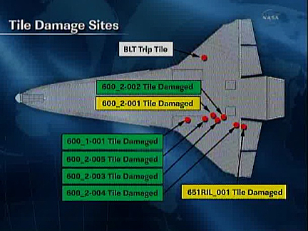 space shuttle atlantis tile damage - photo #18